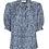 Lisou Betty Blue Bubble Print Silk Shirt