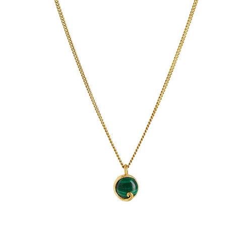 Rachel Entwistle Atlantis Malachite Mini Necklace Gold