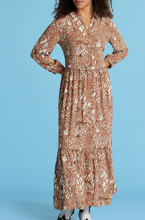 POM Amsterdam Nature's Hug Salted Caramel Dress
