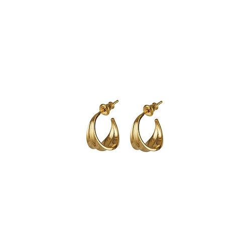 Athena Mini Hoops Gold