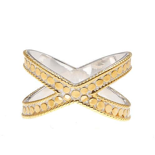 Anna Beck Cross Ring Gold