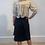 Emin & Paul Double Layer Tie Belt Wrap Skirt - Black