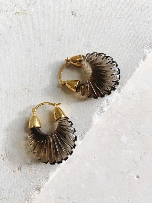 Shyla Ettienne Smoky Ridged Earrings