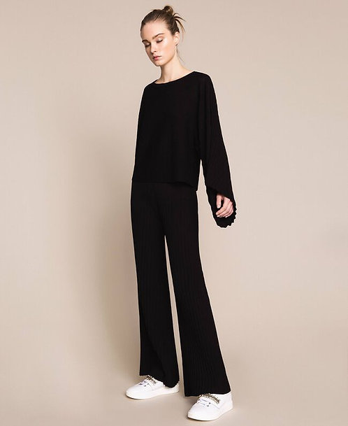 Twinset pleated knit trousers