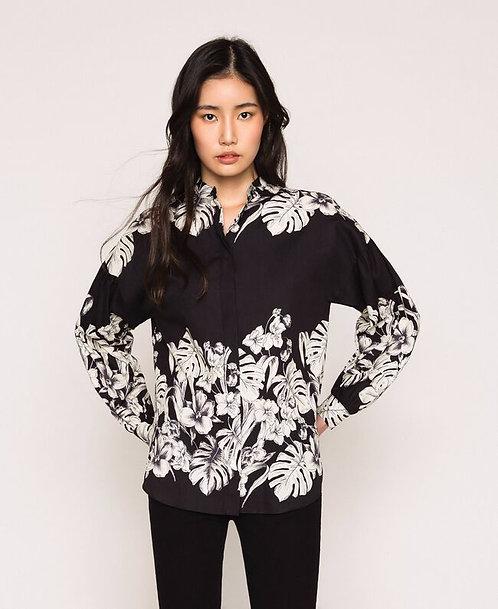 Twinset poplin floral shirt