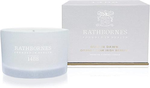 Rathbornes Dublin Dawn Irish Rock Rose, Raspberry & Davana Scented Travel Candle