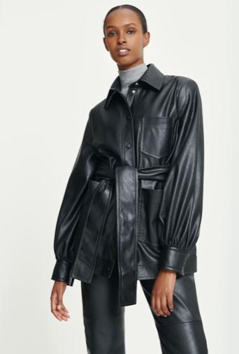 Samsoe Samsoe Vestine Leather Jacket