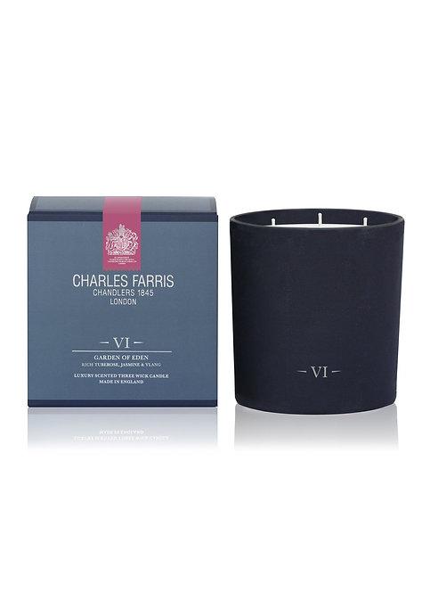 Charles Farris Garden of Eden Scented Candle Tuberose, Jasmine & Ylang Ylang
