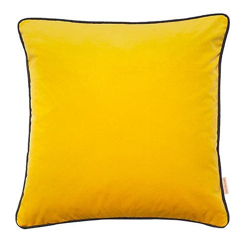 Susi Bellamy Chartreuse Yellow Velvet Square Cushion