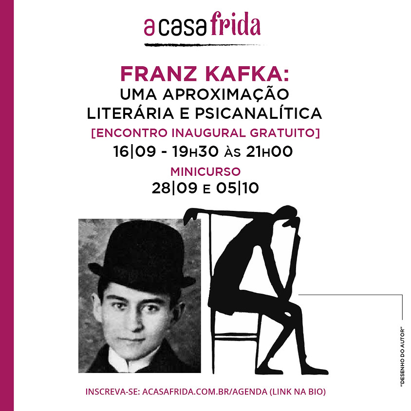 Encontro inaugural gratuito - Franz Kafka: uma aproximação literária e psicanalítica