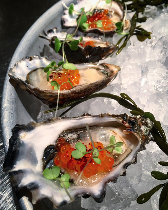 oysters and caviar