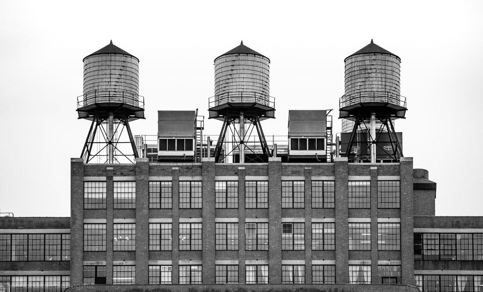 three water towers