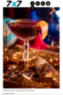 7X7 Magazine 2018. Cocktail shot by Leonard Martin Hughet.