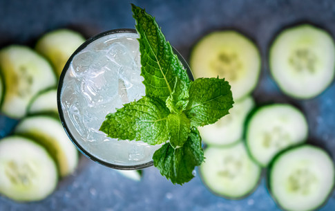 cucumbers and mint