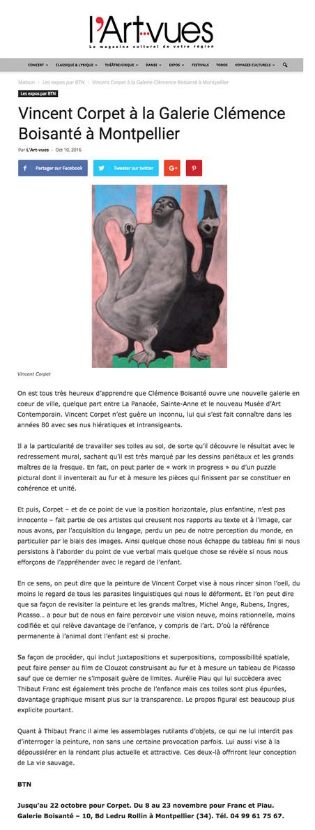 Vincent Corpet: la presse en parle