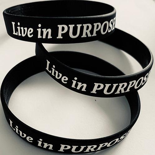 """Live in Purpose"" Bracelets"