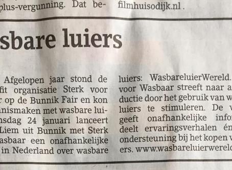 WasbareluierWereld in het nieuws!