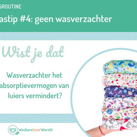 Wastip  #4:  Wasverwachters en luiers gaan niet goed samen.
