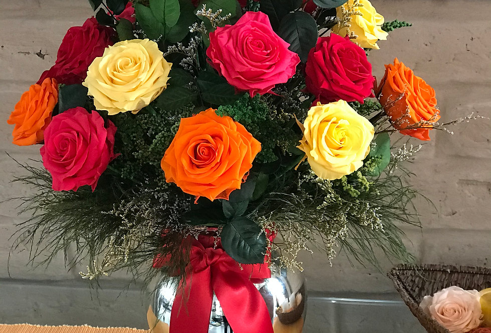 Jarron Génova 24 rosas