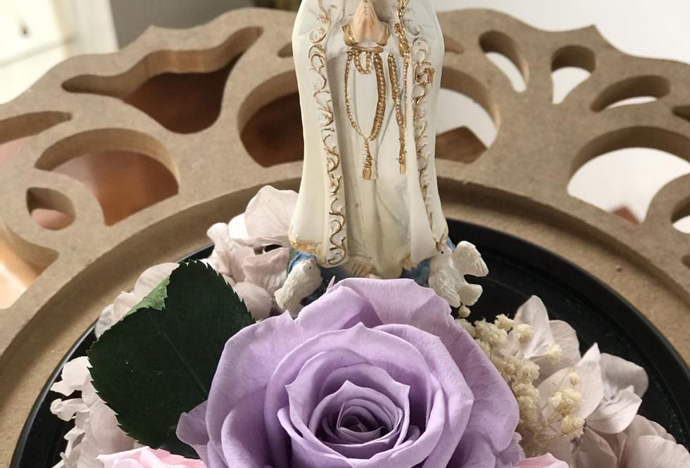 Virgencita de Fátima en cúpula 20x14 sin luz