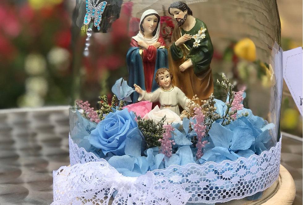 Sagrada Familia  en domo de vidrio