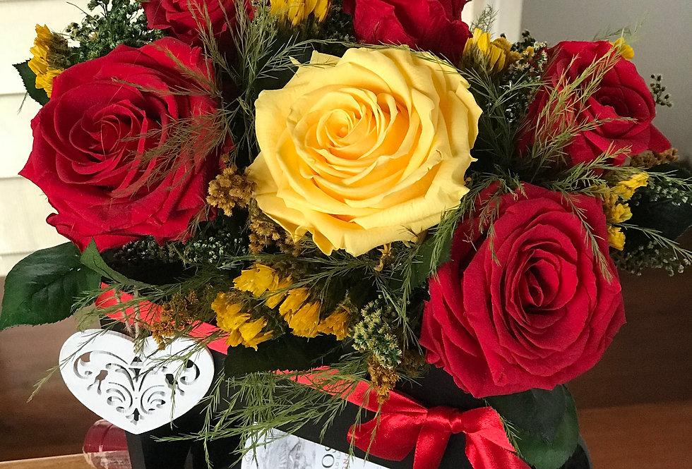 Caja de Vinos y Rosas
