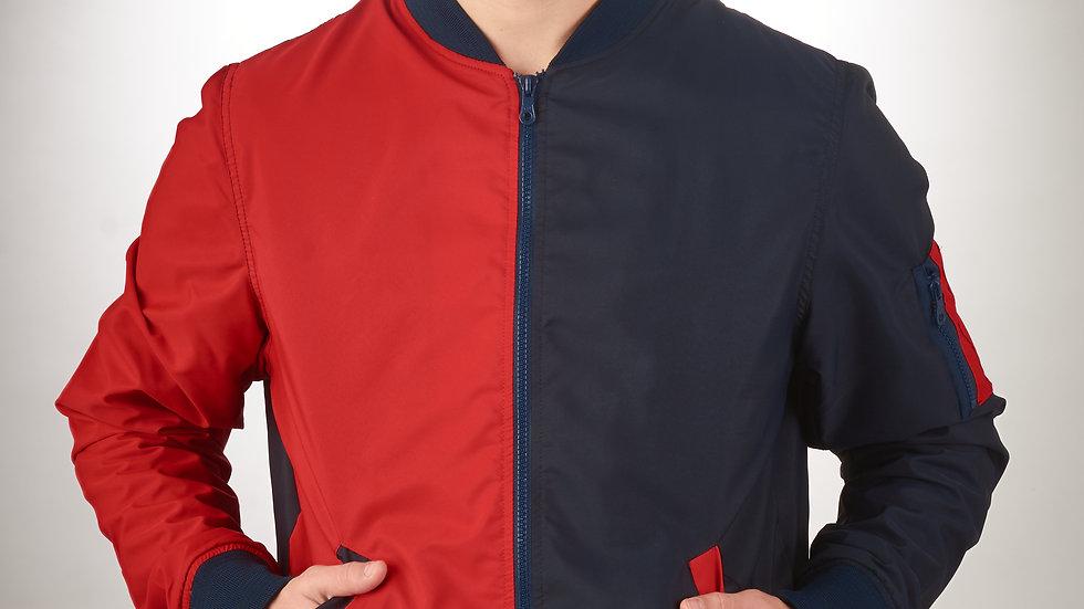 Bomber Jacket Rojo/azul