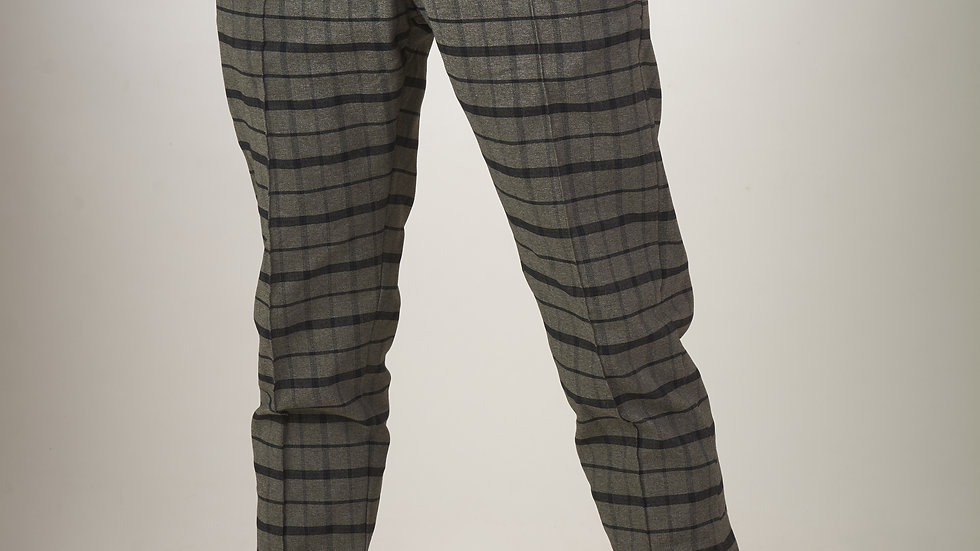 Pantalón Plomo con Cuadros