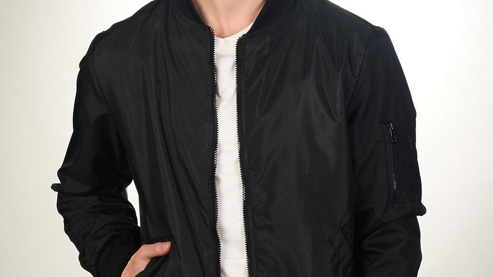 Bomber Jacket Clásica Negra