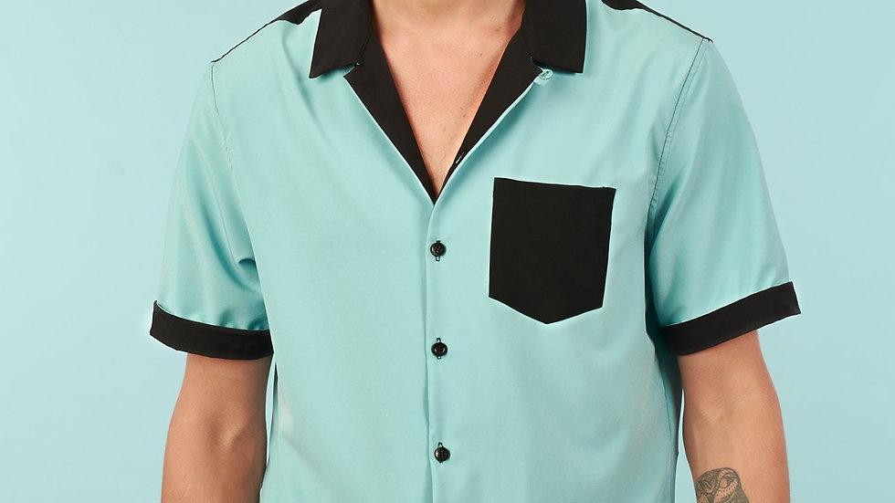 Camisa Modelo Verde con Bolsillo