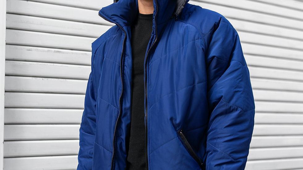 Puffer Jacket Azul Acero