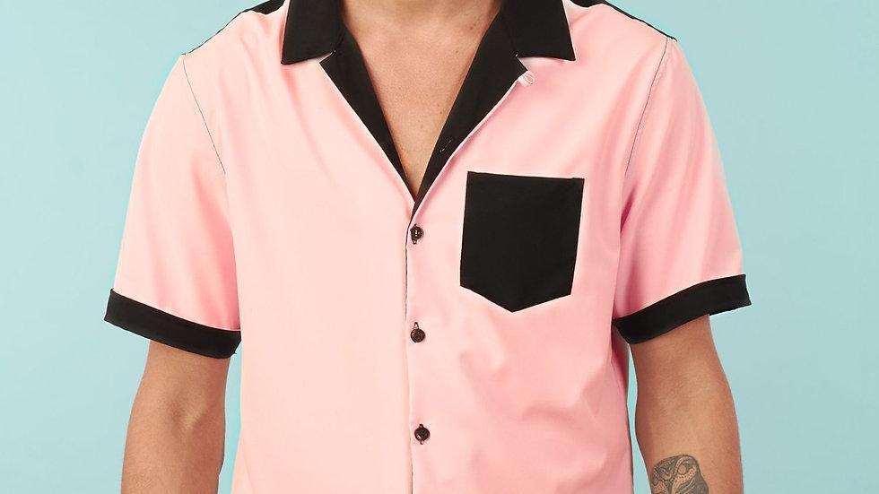 Camisa Modelo Rosa con Bolsillo