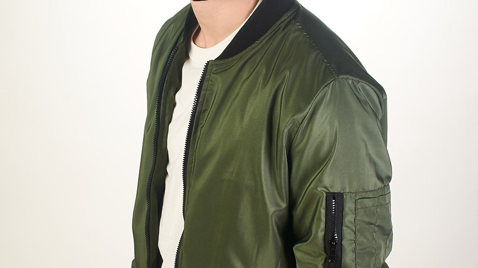 Bomber Jacket Clásica Verde