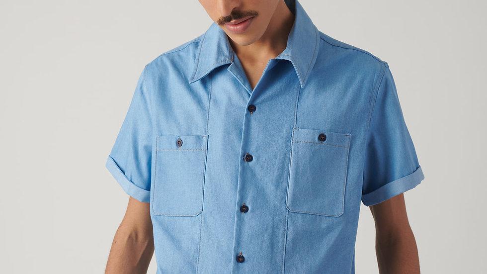 Camisa Chambray Celeste
