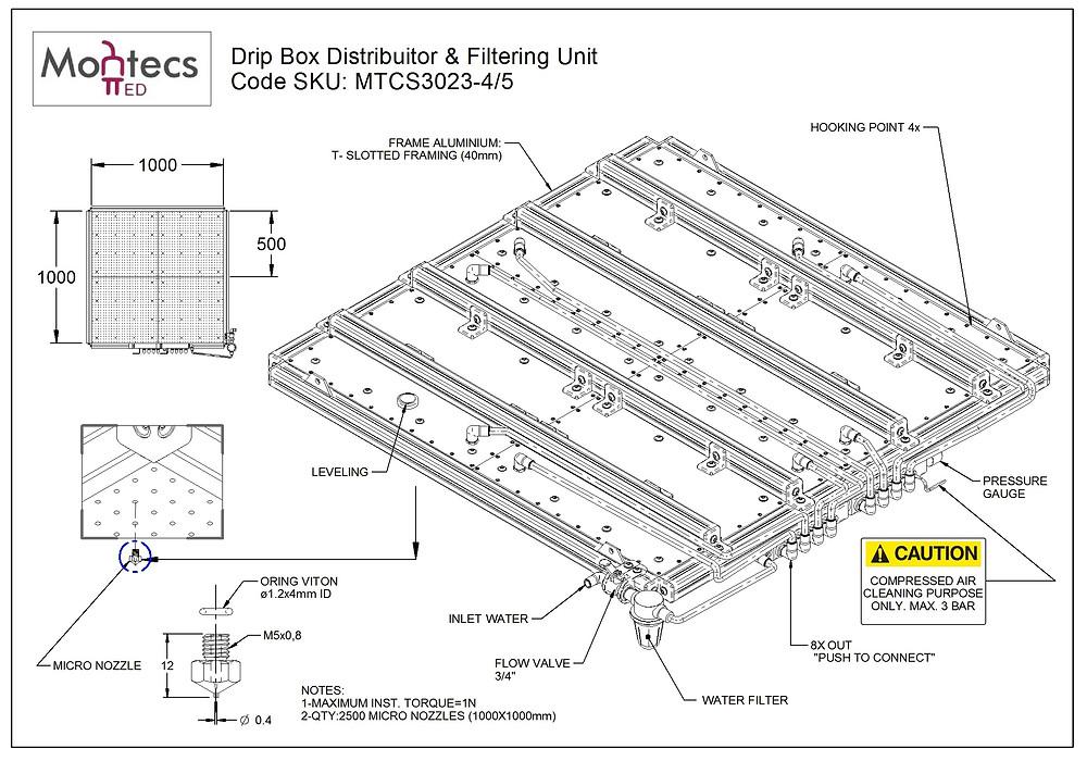 Drip Box 1000 x 1000 (mm)