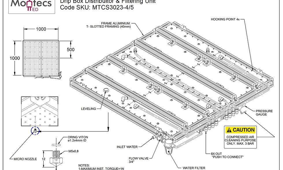 Drip Box Tester IPX1 & IPX2 - 1000 X 1000mm
