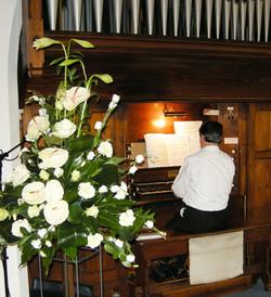 John playing Organ - Wedding Grenoside