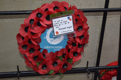 Our wreath at the Menin Gate