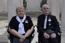 Irene and Michael at Tyne Cot