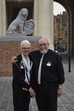 Lynn & Alan at the Menin Gate