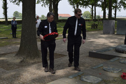 Laying the wreath at Langemark