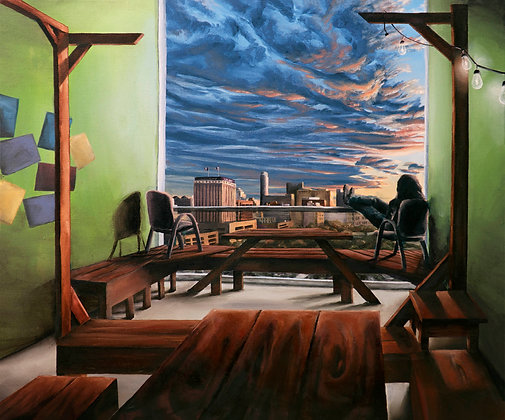 Sunset in the Breezeway! (Print)