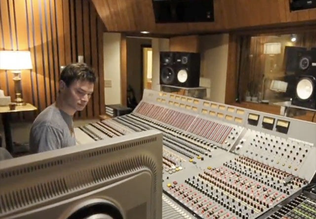 """The control room features a beautiful and historic Trident A-Range console. """"13 were made, plus a few small ones for the Vatican"""", as legend goes. We are lucky enough to have #3 here in Seattle. Low frequencies down to the earth, high frequencies to heaven, the mic preamps and equalizers built into this 1975 gem are a revelation. The console is 36 channels, and has been rebuilt from the frame up to be fully working and dependable. Thanks Jay! Recording to tape, or recording to Protools, plenty of classic outboard gear and a full array of microphones make your project more than you had imagined."""