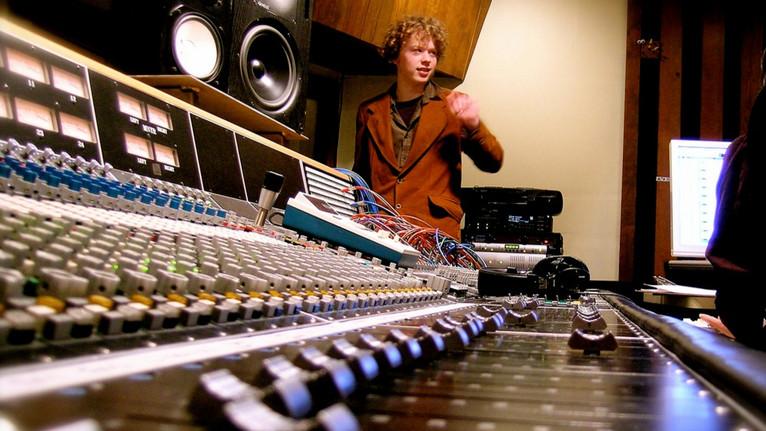Music in progress in Control Room B