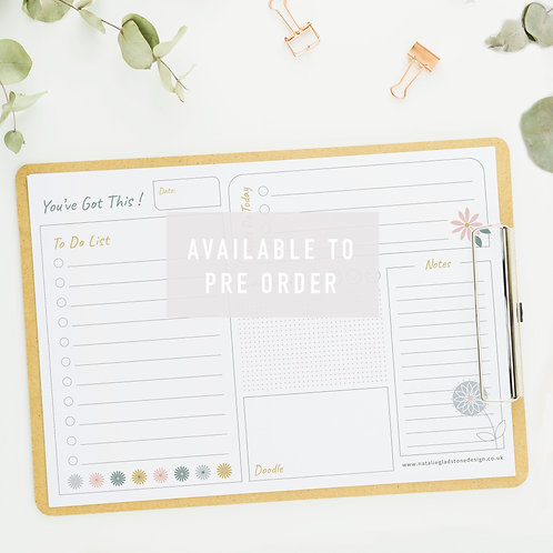 A4 To Do List Pad (50 sheets)