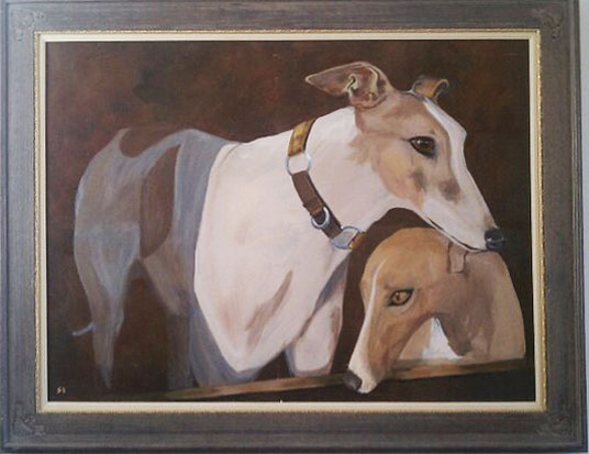 Kent & Tansy the Greyhounds (SOLD)