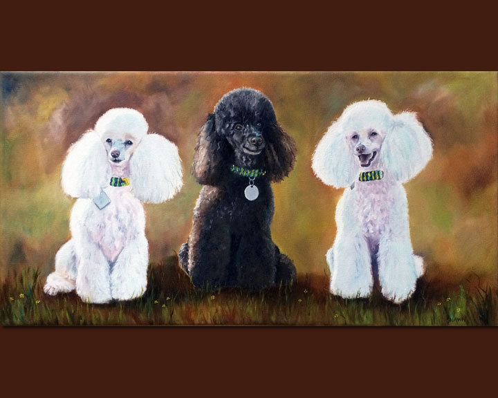 Poodle Trio (SOLD)