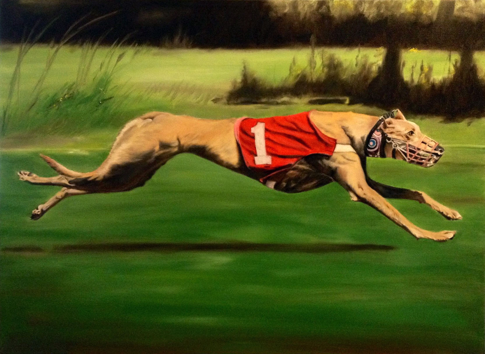 Mozzie the Racing Whippet (SOLD)
