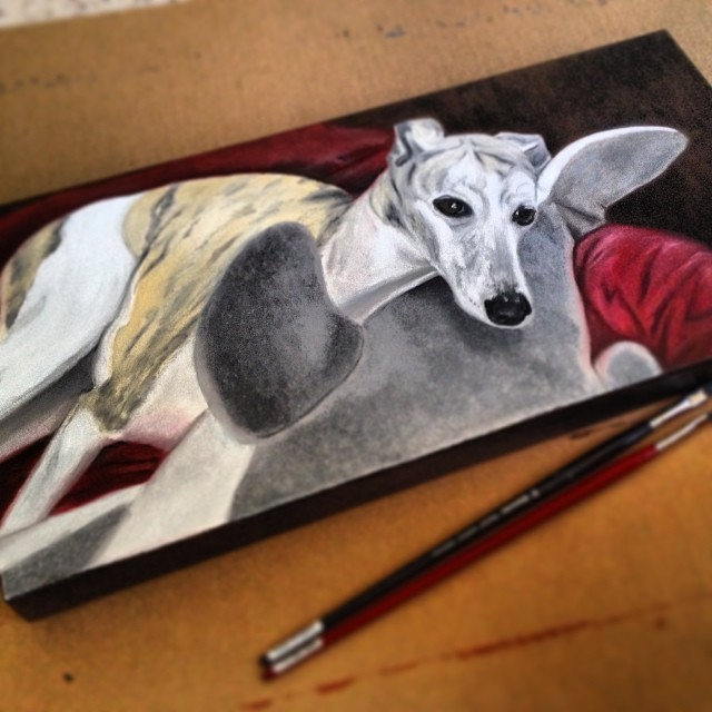 Casey the Whippet - (SOLD)
