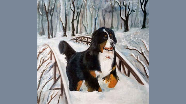 Snowy Bernese Mountain Dog (SOLD)
